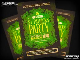 St Patricks Day Invite Template PSD by Industrykidz