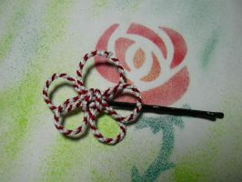 Kumihimo flower hair pin by knotsme