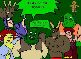 Thanks For 1000 by GreenSwampWarrior