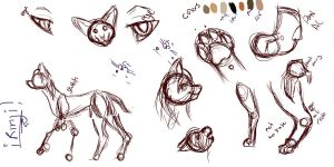 Cat Practice-Serval- by WolfxTracks
