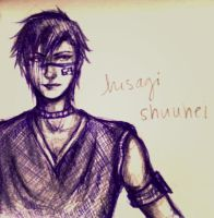 Sketch: Hisagi by amirafox