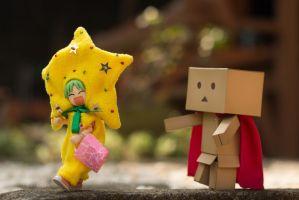 Yotsuba and Danbo: Trick or Treat on Halloween by kixkillradio