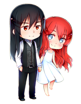 (commission) Lilith and Lucifer by NonexistentWorld
