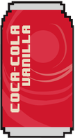 Pixel Vanilla Coke Can by Philosoraptus