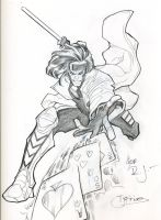 Gambit sketch by guinnessyde
