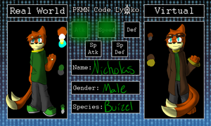 Pokemon Code Lyoko: Nick by Buizelfreak