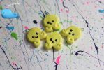 Yellow Octopi Charms by Shelby-JoJewelry