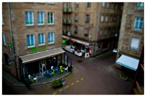 Cafe St Malo - Tiltshift by fifoux