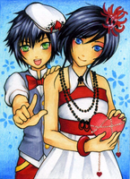 ACEO No.40 - Soelle and Kinya by Hachiyo