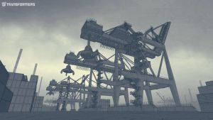 EXT maritime container yard Lo Wide by orangehexagon