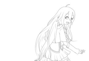 Vocaloid : IA Lineart by ICSanimangalovers