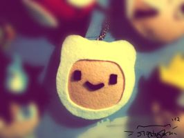 Finn the Human Adventure Time keychain by mcazevedo