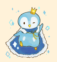 Prince Piplup by spaded-square