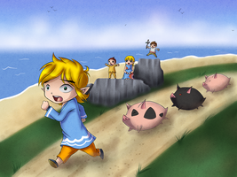 Wind Waker - Angry Pigs by artisticgamemaster