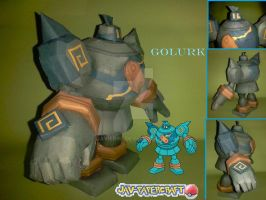 Golurk v2 papercraft model by javierini