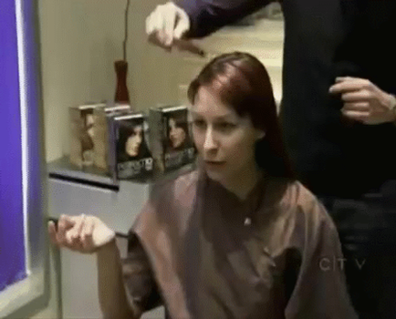 TV show long to short haircut (GIF) by InquisitorAles