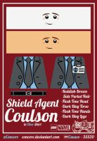 LEGO SHIELD Agent Coulson w/Blue Shirt by Concore