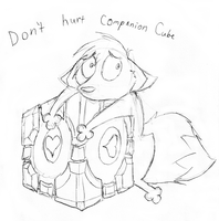 Don't hurt Companion Cube by Lyritwolf