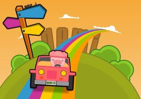 pig over the rainbow 2 by malinamnam