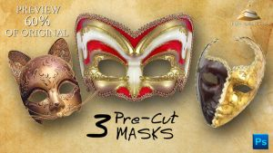 3 Carnaval Masks by HJR-Designs