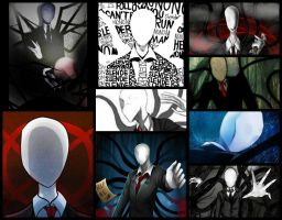 Collage Slenderman by YuliTheKiller