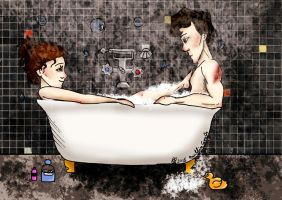 Sherlolly - Bath Time by MuffinSarah