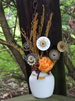 Steampunk flower garden by Hiddendemon-666