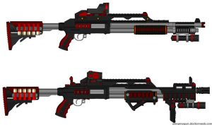 DII PT-9 Interdictus Mariners Shotgun Mods 1 and 2 by Lord-DracoDraconis
