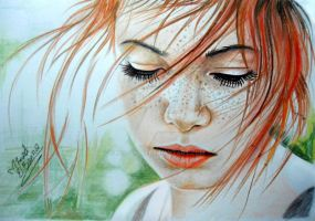 Summer times ( colored pencils ) by mathio91