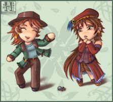 Chibi Jill and Lucilla by Hedrick-CS