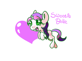 Sweetie Belle G3.5 by C0tt0nTales