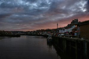 Whitby at dusk by Dune-sea