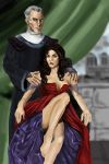 Esmeralda and Frollo by Mize-meow