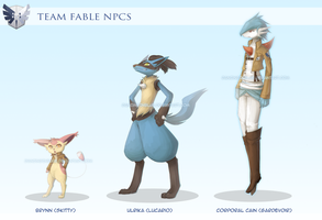 Team Fable NPCs by DancingInBlue