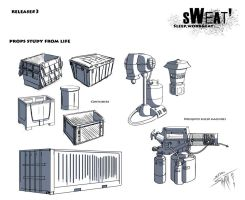 Sweat#3 Props Study from Life by DracowormArt