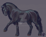 Friesian Mare by 7rebleclef