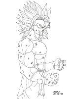 Broly super saiyan legendaire by CB-95