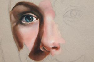Eye and Nose Study by sophikins