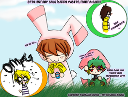 Chibi Seto Series-Easter X3 by BluL0nLeyBre3ze