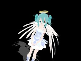 MMD newcomer Lat Angel Miku by midnighthinata