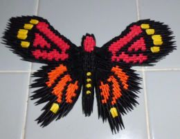 3d Origami Monarch butterfly by dfoosdc