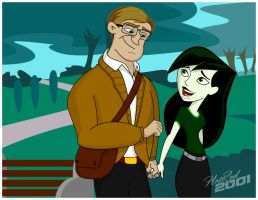 Bruce Banner and Shego by hotrod2001