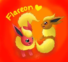 Flareon Twin by Bluekiss131