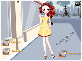 Coffee Girl Dress Up Game by willbeyou