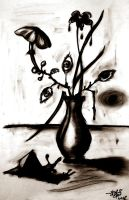 Flowers in a vase by Aib-Alex