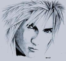cloud strife by silveredemon