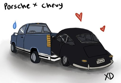 Porsche x Chevy by toastmesilly