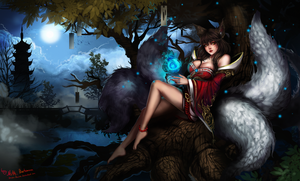 LoL - Ahri, again by Arcan-Anzas