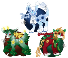 Plushul Holiday Adopts Auction - [Closed] by Eevie-chu