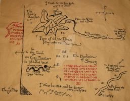 Thorin's Map by knitterintherye